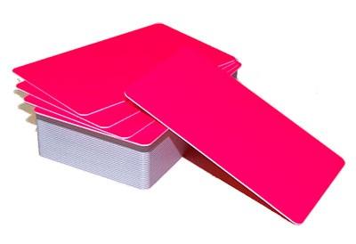Пластиковая карта CIMage 11953 флуорисцентная розовая