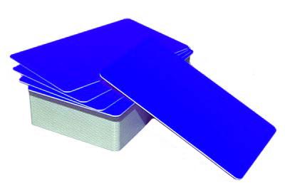 Пластиковая карта CIMage RUSS-BL076 флуорисцентная синяя