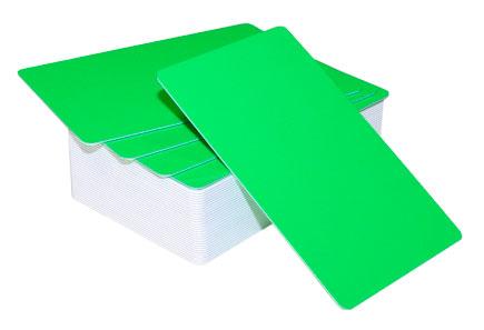 Пластиковая карта CIMage RUSS-L43 ярко-зеленая