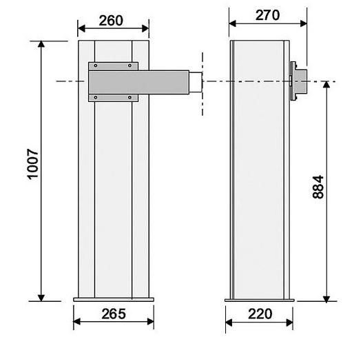 Тумба шлагбаума Came G2500 для проезда до 2,5 метра
