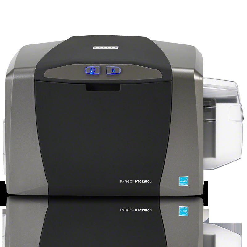 Принтер пластиковых карт Fargo DTC1250e с картриджем EZ 250 отпечатков