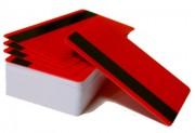 Пластиковая карта с магнитной полосой CIMage 14613 красная